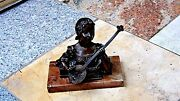 Antique French Bronze Statue Of Operaand039s Singer Rendering The Name Of Mignon