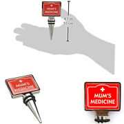 And039mumand039s Medicineand039 Wine Lover Bottle Stopper Novelty Cork Birthday Gift Boxer