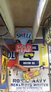 Old Shell Enamel Sign Repo Good Condition