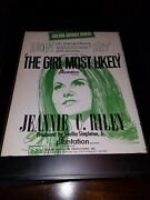 Jeannie C. Riley The Girl Most Likely Rare Original Framed Poster Ad
