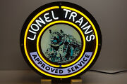 Lionel Train Corporation Neon Sign For Service Stations. Awesome Collectable