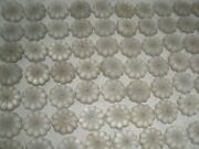 200 Vintage Carved Frosted Glass Rosettes Flowers For Chandelier Parts 28mm