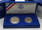 1986-s 100th Year Of Statue Of Liberty.liberty Proof Silver Dollar And Clad Half