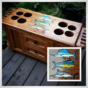 Rod And Reel Cabinet With Side Rod Racks Fly Fishing Rods Saltwater Reels Lures