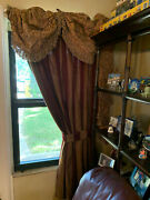 Purple And Gold Drapes From Ethan Allen With Gold Valences Set Of 2