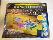First State Quarters Of The United States Collectorand039s Maps-two Complete Sets