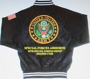 19th Special Forces Group Draper-utah Army Embroidered 2-sided Satin Jacket