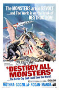 Posters Usa - Destroy All Monsters 1968 Godzilla Movie Poster Glossy - Mcp297