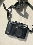 Canon Powershot G10 Digital Camera - Black With Usb Cord And Strap