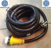 6/3+8/1 36 Foot 50 Amp Rv Power Cord W/ Twist Lock Locking Connector Replacement