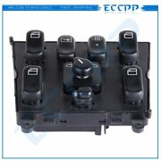 For Mercedes-benz Ml320 3.2l 1998-2003 Power Window Switch Front Driver Side