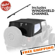 Smittybilt 9973235 Bowless Soft Top And Windshield Channel - 1997-2006 Wrangler Tj