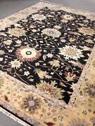 9' X 12' Rare Oushak Area Rug Black Wool Hand Made / Knotted New Woven A+ Wool