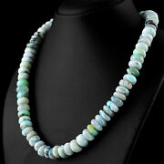 400 Cts Natural 20 Inches Long Peruvian Opal Untreated Round Beads Necklace Dg