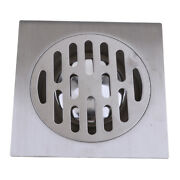 Thick 304 Stainless Steel Bathroom Shower Square Floor Drain Cover