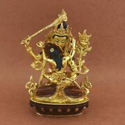 Hand Carved Gold Gilded 9 Manjushri Shakti Copper With Gold Statue Patan Nepal