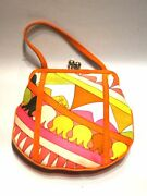 Chic Pucci Silk And Suede Miniature Evening Purse