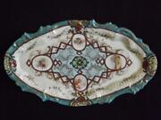 Antique Nippon Porcelain Shubei Kato Npsk Embossed Moriage Tray Plate 12x7 Exc