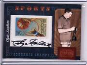 2010 Panini Century Collection Clyde Lovellette Stamp Auto 16/25