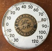 Old Vtg Antique Lackawanna Anthracite Dandh Railroad Advertising Thermometer Sign