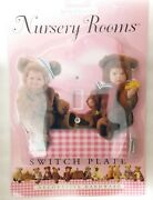 New Anne Geddes Decorative Hardware Nursery Rooms Large Pink Switchplate 7 X 7