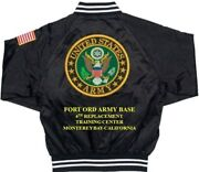 Fort Ord Army Base 4th Replacement Training Embroidered 2-sided Satin Jacket