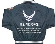 George Air Force Base 37th Tactical Fighter Embroidered 2-sided Satin Jacket