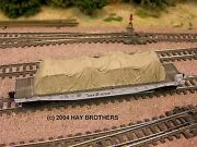 Hay Brothers 40and039 Tarp Covered Load 2 Tan Color - Fits Flatcars And Gondolas