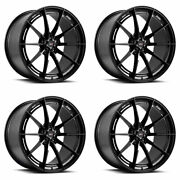 19 Savini Sv-f1 Black Forged Concave Wheels Rims Fits Ford Mustang Gt Gt500