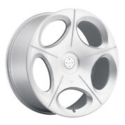 22 Blaque Diamond Bd77 Silver Concave Wheels Rims Fits Cadillac Cts V Coupe