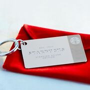 Starbucks 2014 Limited Edition .925 Sterling Silver Keychain Gift Card - 0 Bal