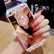 Girl/lady Diamond Ring Holder Mirror Stand Case Cover For Various Mobile Phones