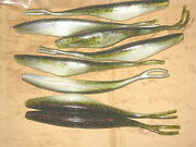 5 1/2 Twitch Minnow Super Fluke Style Watermelon Red Ghost 50 Pack Bass Worms