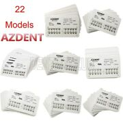 Azdent Dental Ortho Metal Brackets Braces Mini Standard Mbt Roth 022 Hooks 345