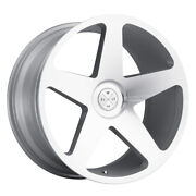 20 Blaque Diamond Bd15 Silver Concave Wheels Rims Fits Ford Mustang Gt Gt500