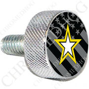 Chrome Billet Sm Or Lg Harley Twin Cam Air Filter Cleaner Bolt - G Flag Army S