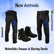 Motorbike Motorcycle Textile Cordura Trouser Rainproof Bike Riding Leather Boots