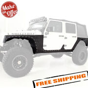 Smittybilt Xrc Armor Front And Rear Corner Fenders W/ Body Cladding - Jeep Jk 4dr