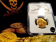 Spain 2 Escudos Andldquorarely Dated 1595andrdquo Pirate Gold Coins Ngc 50 Treasure Doubloon