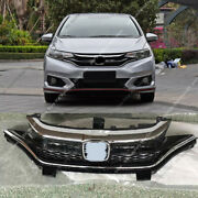 Oem Chrome Front Bumper Middle Grille Grill Fit O Trim For Honda Fit/jazz 18-20