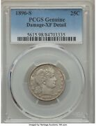 1896-s Barber Quarter 25c Pcgs Xf Details, Tough Coin With This Much Detail