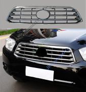 Abs Front Bumper Hood Center Grille O Grill Fit For Toyota Highlander 2008-2010