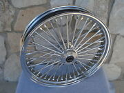 21x3.5 Fat Spoke 08-up Abs D/d Front Wheel For Harley Flt Touring Baggers