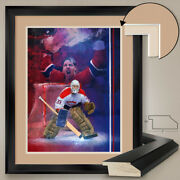 32wx40h Patrick Roy - Montreal Canadiens Habs - Double Matte Glass And Frame