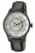 Gevril Menand039s 2005 Columbus Circle Automatic Black Astrological Symbols Watch