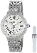 New Gv2 By Gevril Womenand039s 9100 Astor Interchangeable Strap Diamond Steel Watch