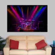 Amazing Drum Set Painting Happy Poster Wall Art Home Decor 1 Piece Canvas Print