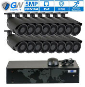 16 Channel Nvr 16 5mp 1920p Poe Ip Home Security Camera System 2 X 4tb