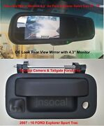 Backup Camera And Rear View Monitor 4.3 For 2007 - 2010 Ford Explorer Sport Trac