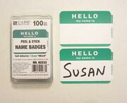 2500 Green Hello My Name Is Name Tags Label Badges Sticker Peel Stick Adhesive